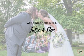 Wedding of the Week: Julie & Don