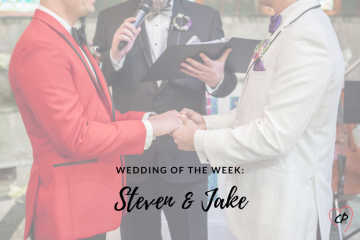 Wedding of the Week: Steven & Jake