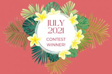July 2021 Giveaway Winner